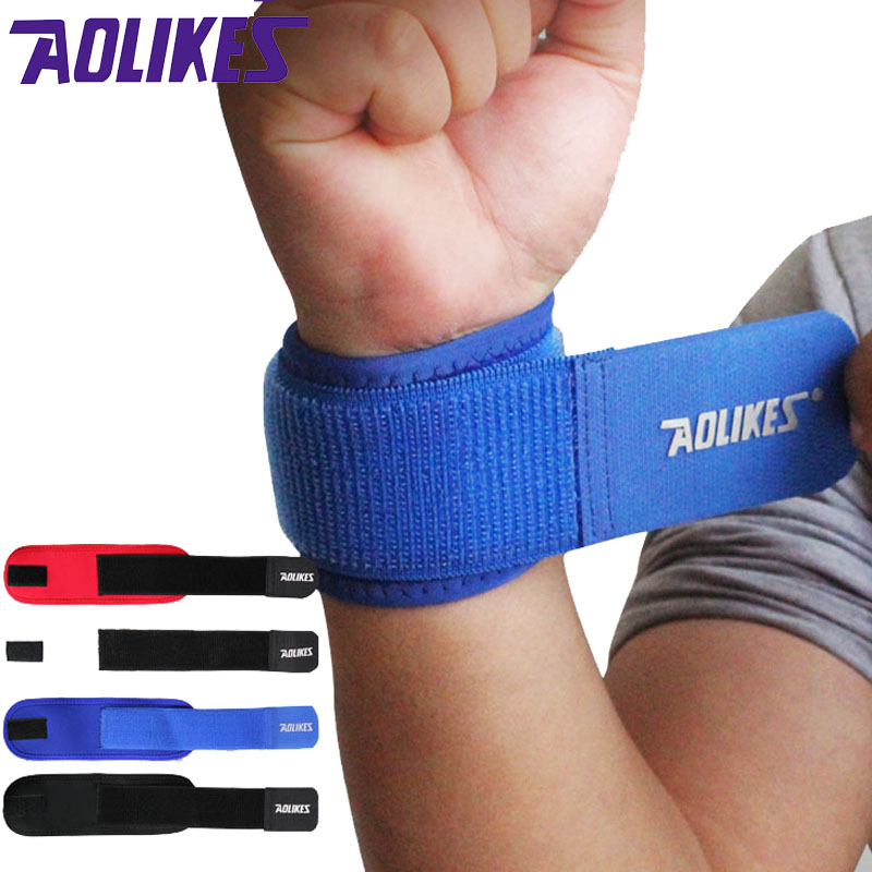 AOLIKES 1PCS Adjustable Wrist Support Brace Brand Wristband Men and Women Gym Wrestle Professional Sports Protection Wrist