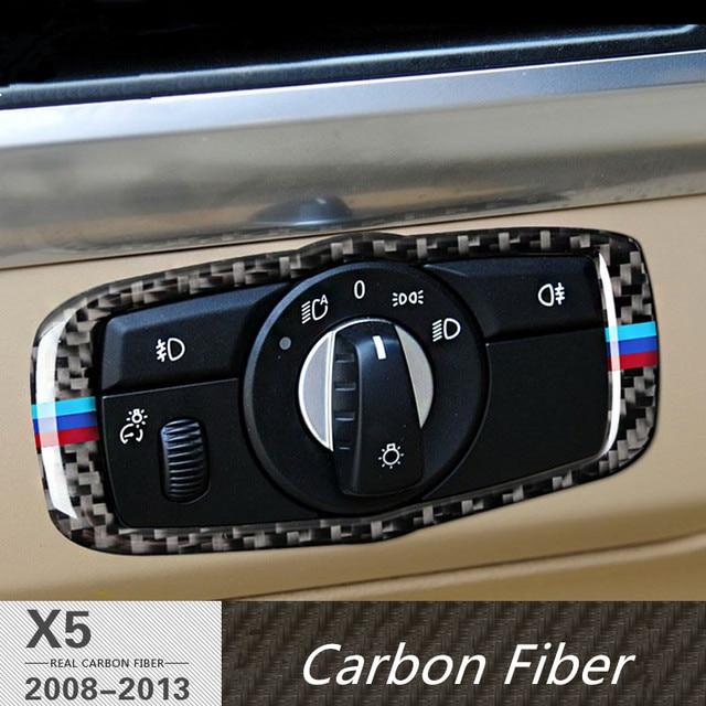 para bmw x5 e70 2008 13 fibra de carbono esporte interior