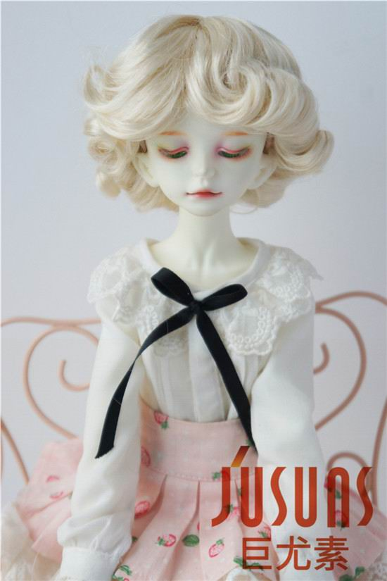 JD369 1/4 MSD BJD doll wigs Fashion curly wig 7-8 inch BJD synthetic mohair doll wigs doll accessories 8 9 bjd wig silver knights of england volume mohair wig spot