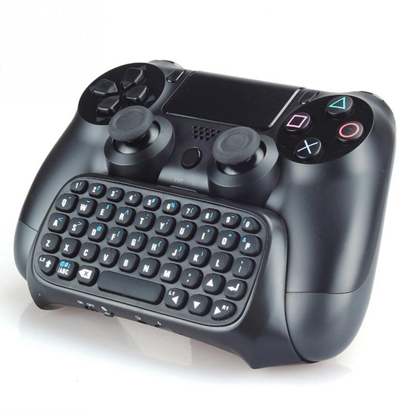 Popular 47 Keys Mini Bluetooth Wireless Keyboard Chatpad Chat Pad Perfect For Sony PS4 PlayStation 4 Controller Handle 1pcs black wireless game gaming bluetooth chatpad message keyboard for sony for playstation 4 for ps4 controller with usb cable