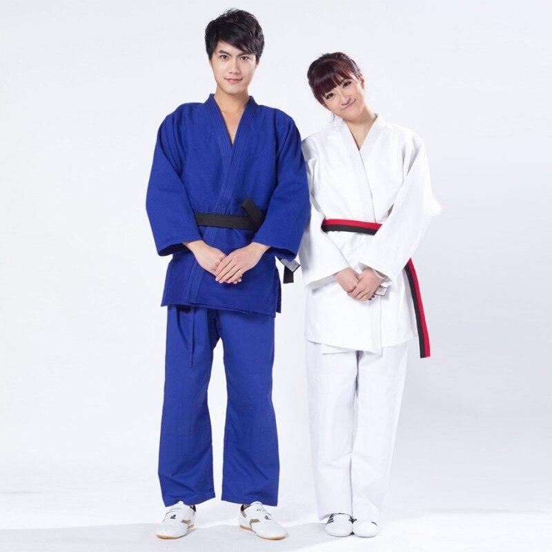 Qualidade superior novos homens jiu jitsu judo bjj gi kung fu roupas masculinas azul kendo aikido algodão roupas esportivas plus size artes marciales conjunto 4