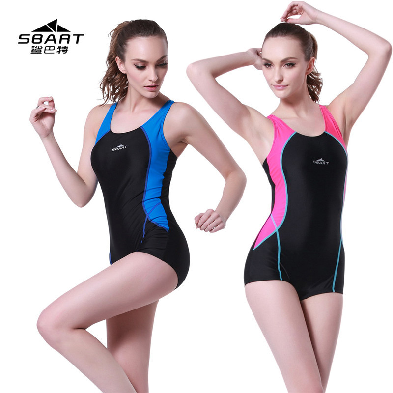 ФОТО SBART Professional Swimmer Women Racing One-piece Swimsuit,Girl Conserved Beach Spa Swimwear,with Chest Pad,Slim Fit,Big Yards