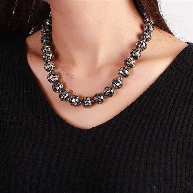 Prix de gros JIUDUO! Nouvelle Mode! Collier de perles de mer du sud AAA perles multicolores fabrication de bijoux 15mm livraison gratuite