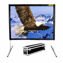 Hot selling 100 inch 16:9 format Fast Quick Fold Projector screen for many size front and rear projection screen and case