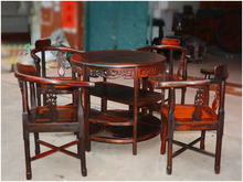 Laos Rosewood roundtable Cochin rosewood coffee table tea table Leisure table table Wujiantao
