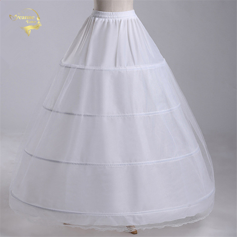 New Wholesale Wide 4 Hoops 1 Layer Tulle Petticoat For Ball Gown Crinoline Underskirt Wedding Accessories Jupon Mariage CW01299