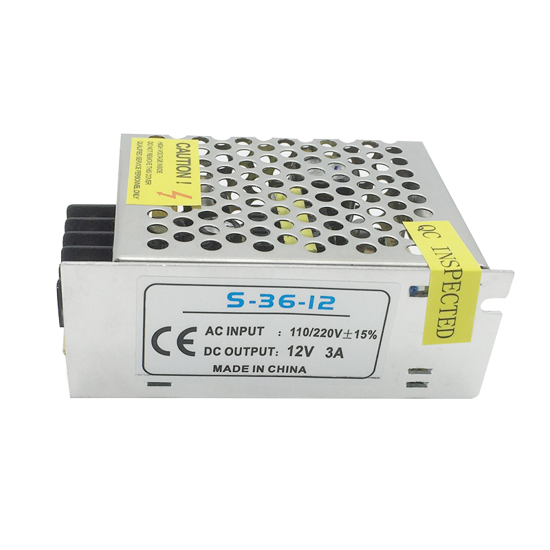 LED High Capacity 12V 3A 36W Switching Power Supply Driver Constant Voltage LED Transformer/Driver for LED Strip / Light Bulb cats seoul