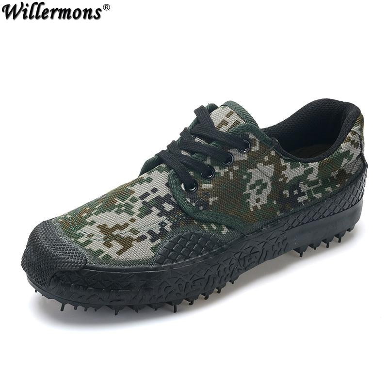 Sommar Mäns Utomhus Låg Camouflage Militär Combat Boots Mäns - Herrskor