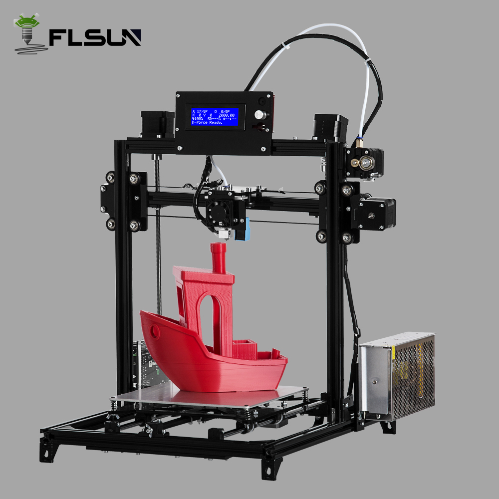 Shipping from Russian  I3 flsun 3D Printer Autolevel 3D printer Large size Dual extruder DIY printer 2 rolls filament for gift ship from european warehouse flsun3d 3d printer auto leveling i3 3d printer kit heated bed two rolls filament sd card gift