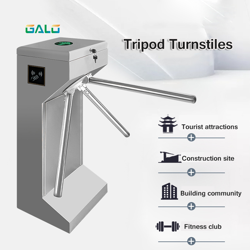 304 Stainless Steel Vertical Security Access Control Tripod Turnstile
