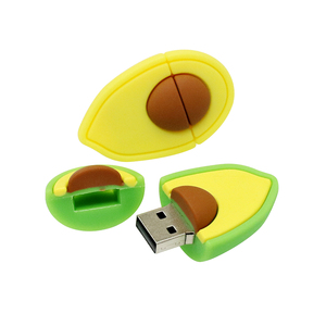 Image 5 - עט כונן 128G חמוד קריקטורה אבוקדו אגס פירות USB דיסק און קי 8gb 16gb 32gb 64gb USB 2.0 זיכרון פלאש מקל דיסק 256GB Pendrive