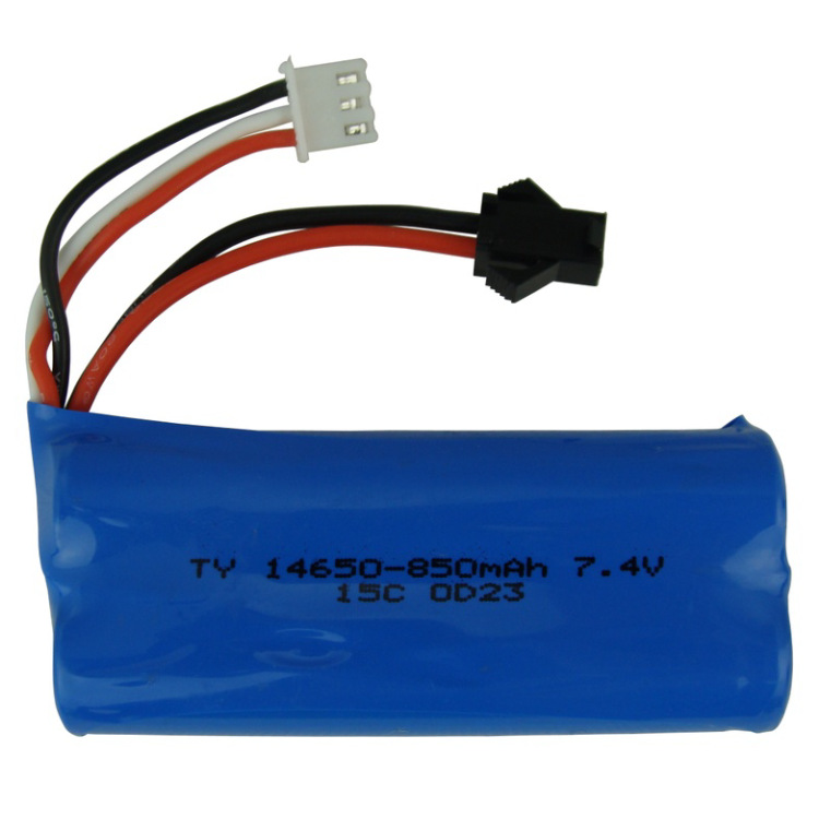 7.4V850mAH <font><b>Lipo</b></font> Battery For RC TOYS accessories <font><b>lipo</b></font> battery <font><b>2s</b></font> 7.4V <font><b>850mAH</b></font> 14650 15C SM plug image