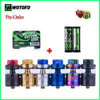 New Original Wotofo Profile Unity RTA Atomizer Tank 25mm 3.5ml/5ml Capacity 30Pcs Cotton +10Pcs Mesh Coil Top filling Airflow