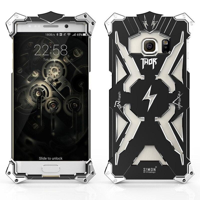 imágenes para Para samsung galaxy s6 s6 Edge más caso Thor IRON MAN Anti-golpe De Aluminio Armadura Resistente de Metal Teléfono caso