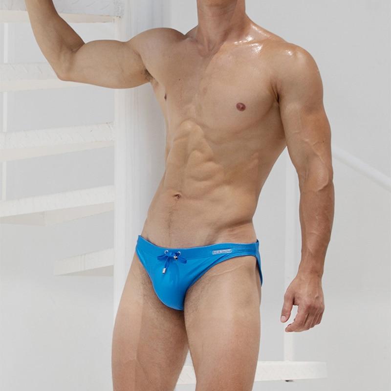 Sexy Men Swimwear Bathing-Suit Beach-Board Shorts Surf Blue New Sunga White Black Solid