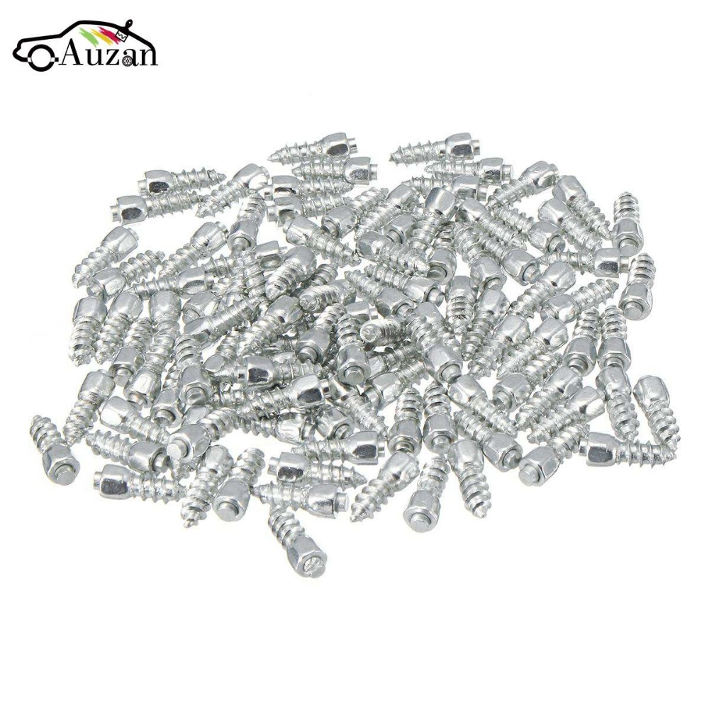 100pcs 12mm Universal Car Wheel Tyre Snow Spikes Studs Tires Anti Slip Screw Stud Trim for