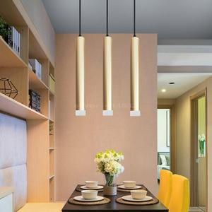 Image 4 - LED תליון מנורת dimmable תליית אורות מטבח אי אוכל חדר חנות בר דלפק קישוט צילינדר צינור מטבח אורות