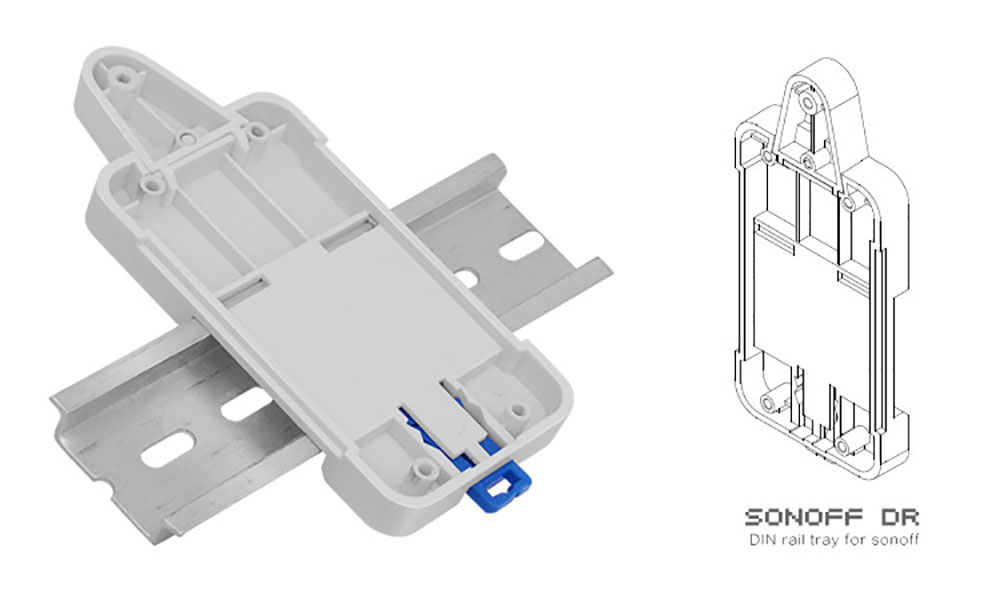 Nice Sonoff Dr Din Rail Tray Itead Adjustable Mounted Rail Case Holder Solution For Sonoff Switch Mounted Onto The Guide Track Kit Access Control