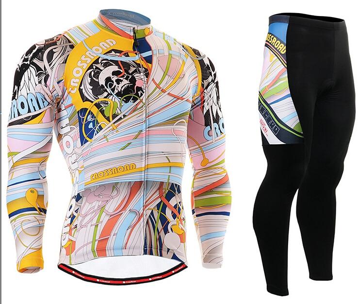 MTB Bike Clothings Mens Cycling Jerseys Sets Breathable Fabric Mountain Bike Long Sleeve Unique Style Gel Pad Clothes Kits асадов э первое свидание