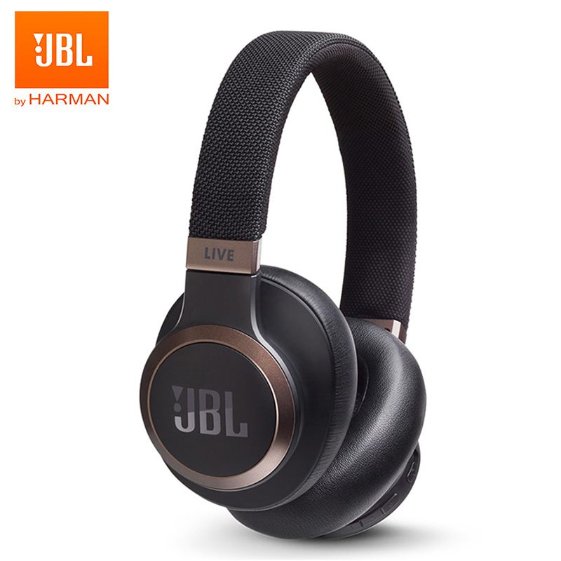 Wireless headphones jbl live 650btnc wireless bluetooth headphones noise cancelling ai smart voice assistant earphone gaming sports gym headset