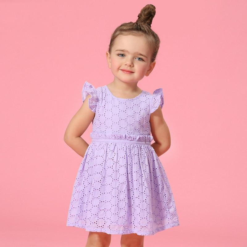 c14765864d99 2016 Mùa Hè Flutter Sleeves Kids Bông Thiết Kế Áo Dài Ren Crochet Thanh  Lịch Bé cô gái Ăn Mặc Cho Tuổi 2 3 4 5 6 7 8 Birthday ăn mặc ...