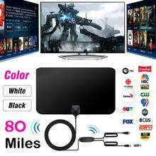 1080P 80 Miles Range TV Antenna Double Amplified HDTV With Detachable Signal Amplifier Booster 4M Coaxial Cable Digital