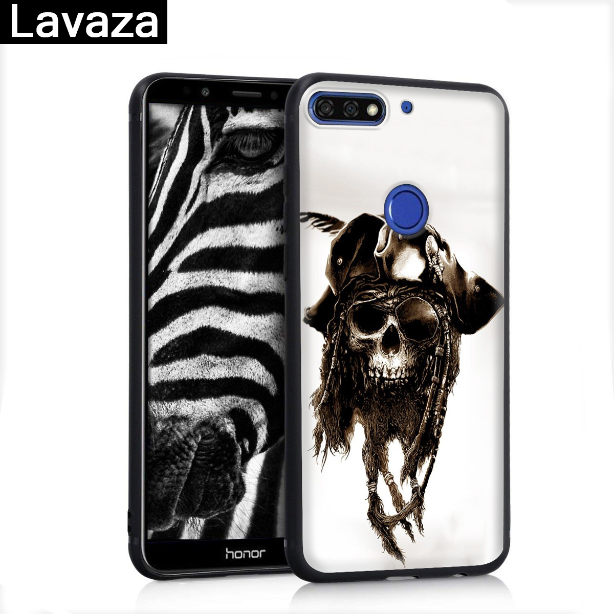 Lavaza skull crow flower pirate Silicone Case for Huawei P8 Lite 2015 2017 P9 2016 Mini P10 P20 Pro P Smart 2019 P30 in Fitted Cases from Cellphones Telecommunications
