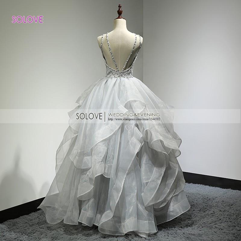 Tiered Spaghetti Strap Backless Elegant Puffy Prom Klänning Organza - Särskilda tillfällen klänningar - Foto 2