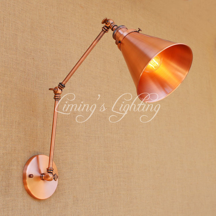 Loft Style Edison Wall Sconce Bedside Lamp Long Arm Industrial Vintage Wall Light Fixtures Indoor Lighting Lampara Pared цены