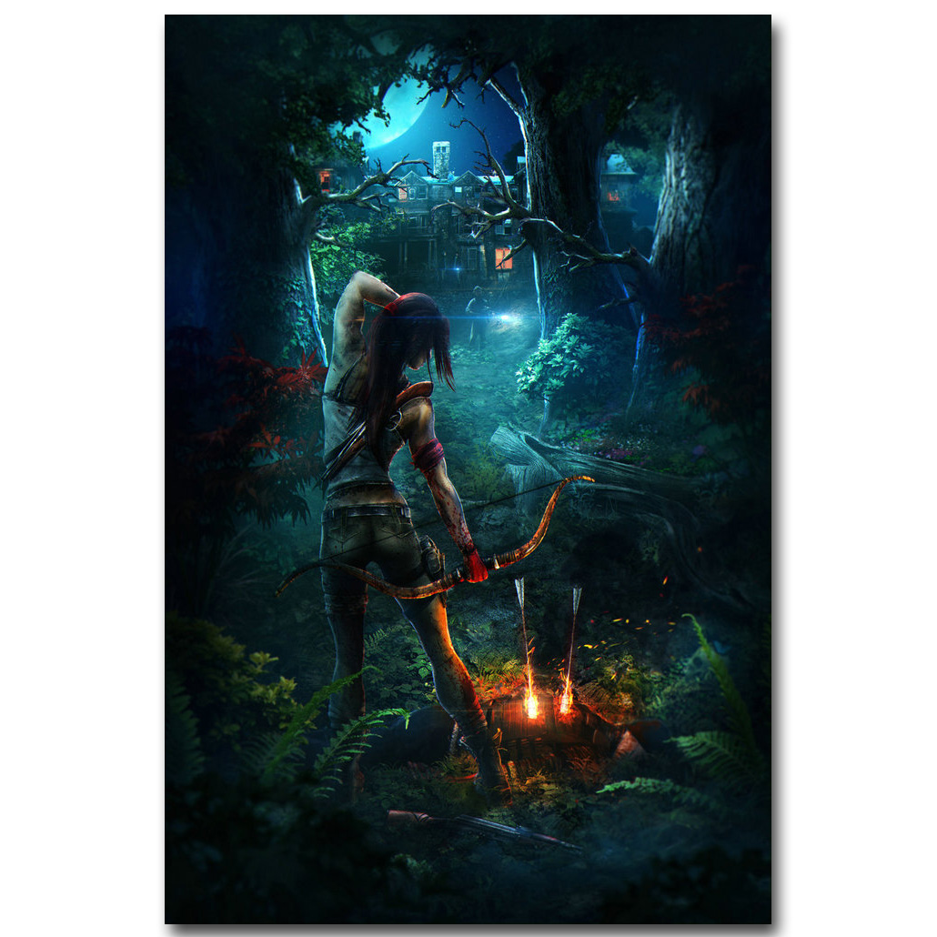 Rise Of The Tomb Raider Art Silk Fabric: Rise ⑤ Of Of The Tomb Raider Art ᗕ Silk Silk