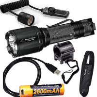 Fenix TK25 UV 1000 Lumens white/3000mW ultra violet (UV) Dual Beam LED Flashlight (TK25UV) with Battery,USB Cable,AER 03 ALG 00