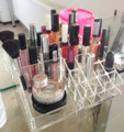 16 Trapezoid Clear Makeup Cosmetic Organizer Storage Lipstick Holder Case Stand