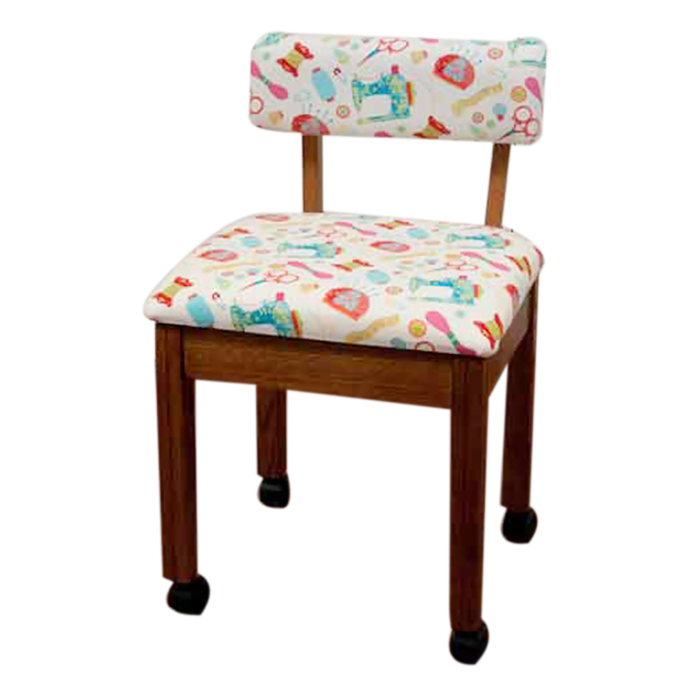 Arrow Home Furniture White Riley Blake Sewing Notions Fabric Chair arrow home furniture riley blake hexi print sewing chair