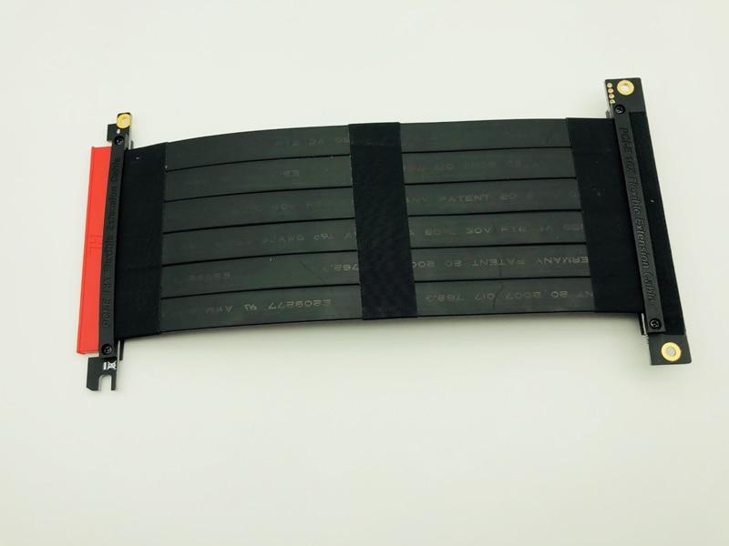 Высокоскоростной PCI Express 3,0 16x гибкий кабель Удлинительный адаптер переходная карта PC видеокарты соединительный кабель 23 см PCIe Riser