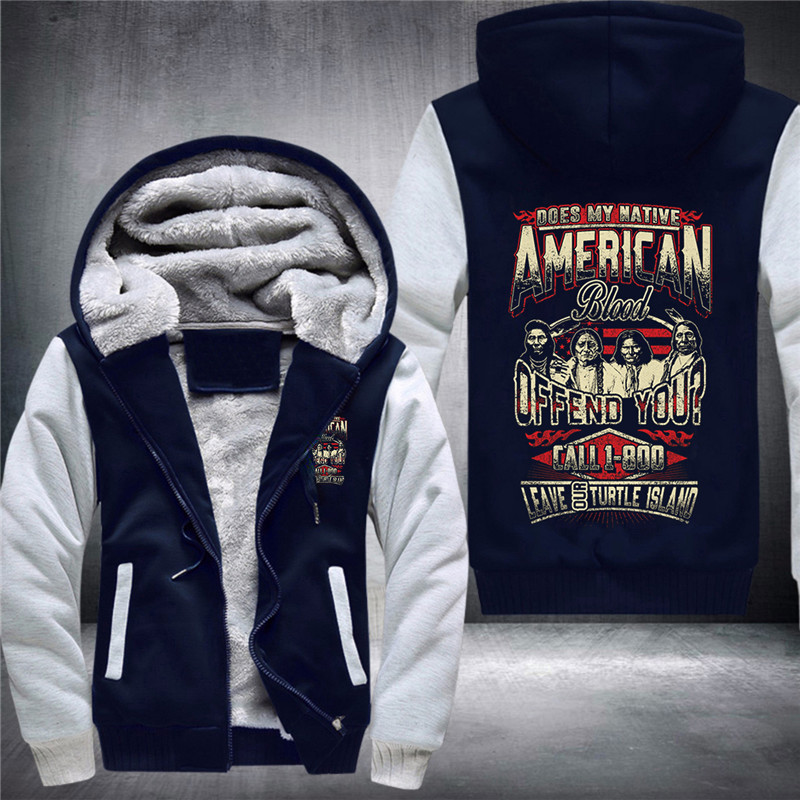 28 Duong Does My Native American Blood Offend You? Men's Fashion Thickened Hoodies