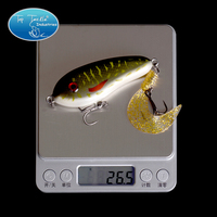 Free Shipping Fishing Tackle Wholesale Fishing Lure Jerk Bait LITTLE DARLING 80mm 26 5g Soft Tail