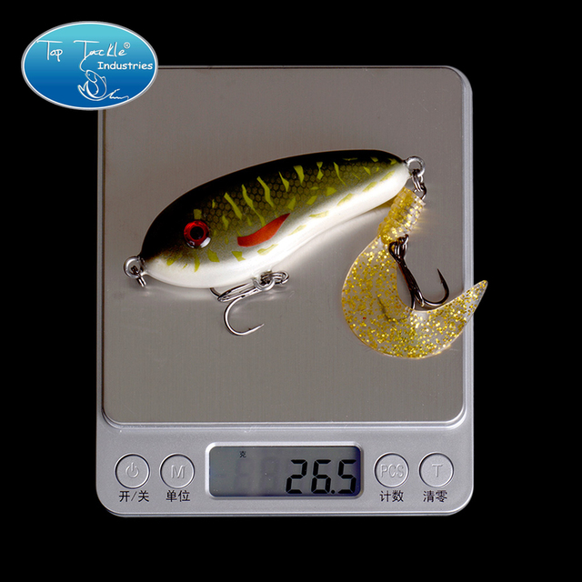 Free Shipping Fishing tackle wholesale fishing lure Jerk Bait LITTLE DARLING (80mm 26.5g)-With Soft tail