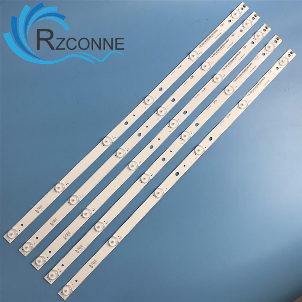 5pcs 575mm 6leds LED Backlight Lamps Strip Kit Board W/ Optical Lens Fliter For 32inch LCD LED TV 18v Input Billboard