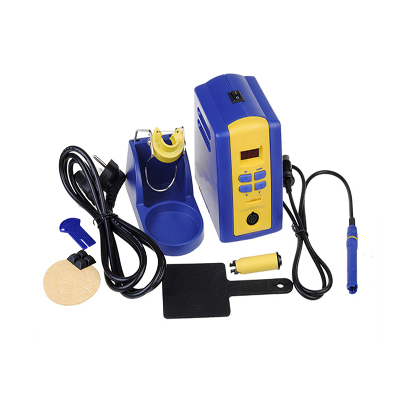 FX-951 220V EU Plug Solder Soldering Iron Station with Tip dhl free shipping hot sale 220v hakko fx 888 fx888 888 solder soldering iron station with 10 free tips 900m t