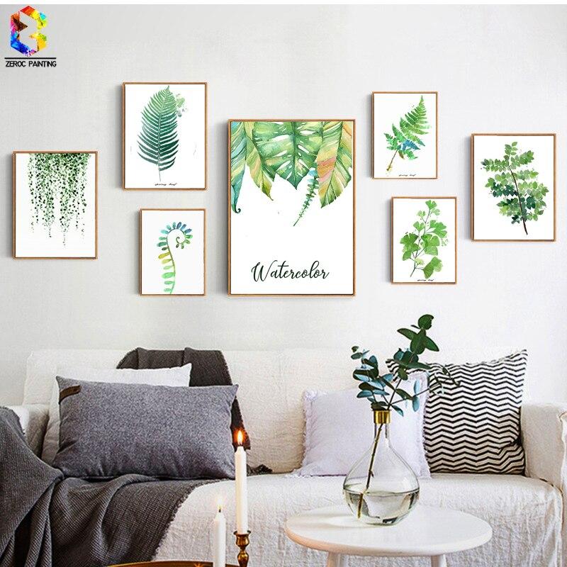 buy zeroc tropical plant art print poster. Black Bedroom Furniture Sets. Home Design Ideas