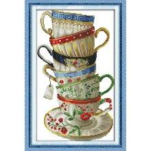 Вечная любовь Рождество элегантная, кофейные чашки китайские крестиком наборы экологический хлопок штампованный 11 Новый магазин Продвиже...