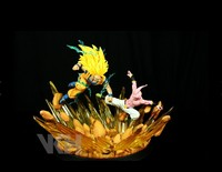 Dragon Ball Z Фигурки Гоку против Буу Супер Saiyan 3 vkh смолы Studio Dragon Ball Рисунок Модель игрушки фигурка драконий жемчуг: DBZ
