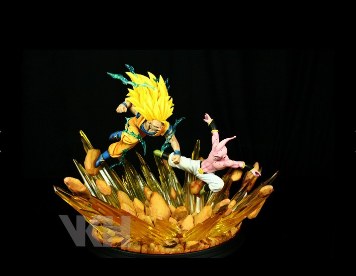 Dragon Ball Z Action Figures Goku vs Buu Super Saiyan 3 VKH Resin Studio Dragon Ball Figure Model Toy Figurine Dragonball DBZ anime dragon ball z son gokou action figure brinquedos dragonball goku super saiyan 2 figures model toys figuras dbz juguetes