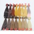 1pcs 25cm*100CM black brown khaki natrual color long straight wig hair for 1/3 1/4 BJD diy wig