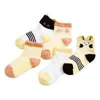 Crianças Infantis do bebê meias meias de Algodão mistura novos Meias Macio Unisex recém-nascidos Respirável Animais Dos Desenhos Animados Anti-Slip 5 Pares de Meias l0716