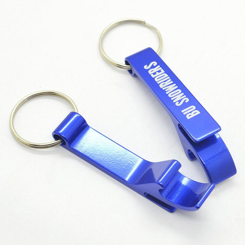 Custom Engraved Metal Keychain Beer Bottle Opener Key Holder Promotional Business Corporate Gift Personalized Keychain with Logo-in Openers from Home & Garden    1