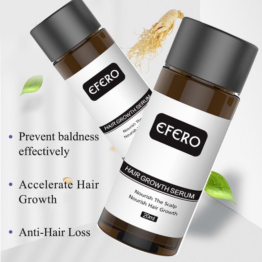 EFERO Hair Growth Essence Fast Powerful Hair Loss Product Beard Oil Growth Serum Essential Oils Hair Growth Treatment Hairs Care 4