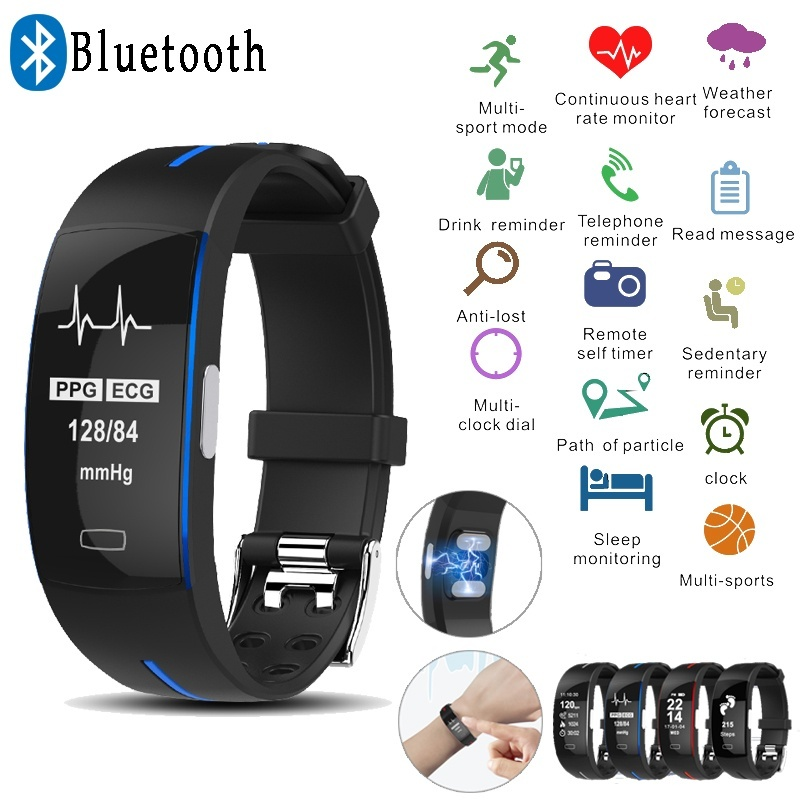 Teamyo <font><b>Smart</b></font> Bracelet Fitness Tracker Wristband ECG+PPG Monitor Activity Heart Rate Smartband Sleeping Monitor <font><b>Smart</b></font> Watch image