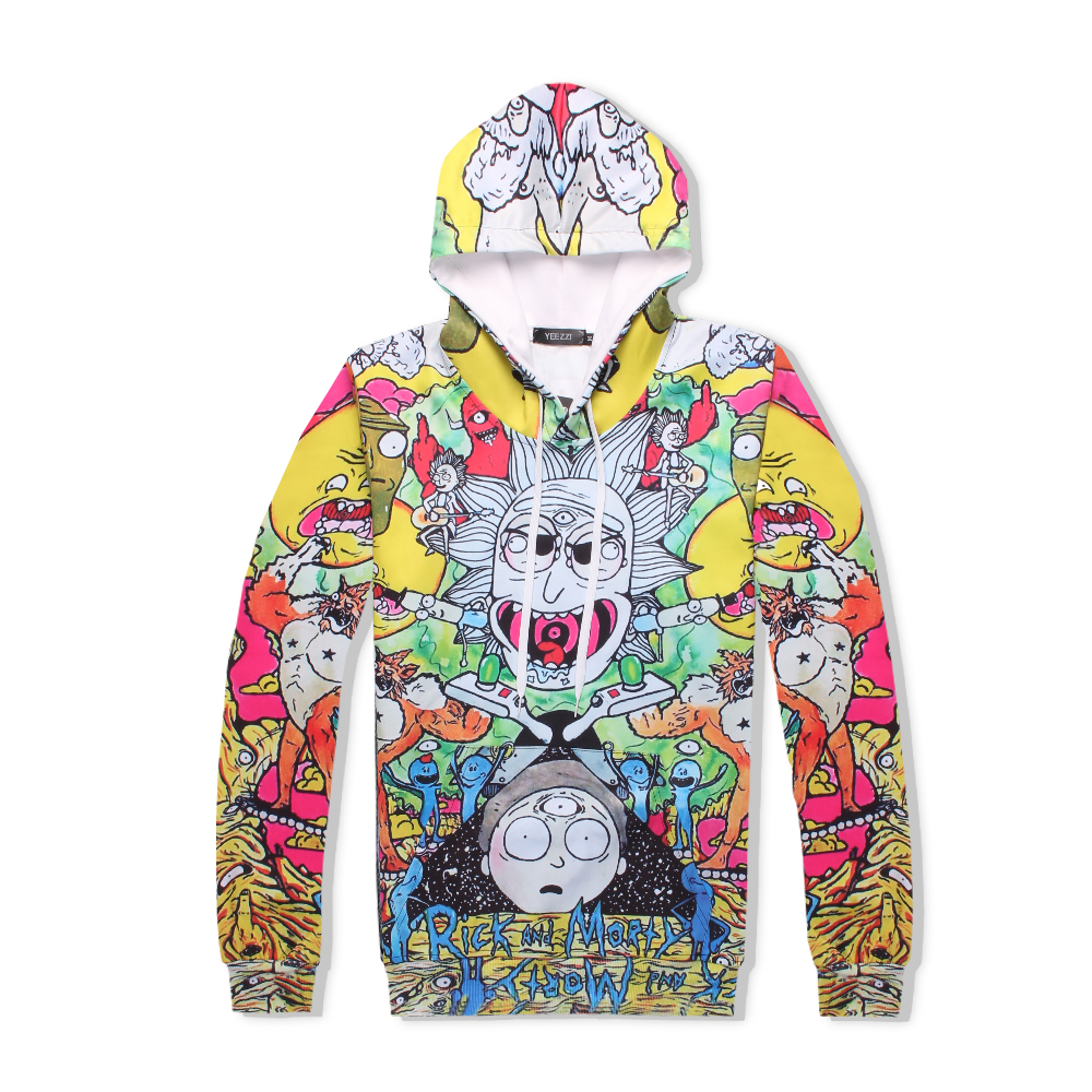 PLstar Cosmos funny Rick &Morty have three eyes tracksuit men women winter casual clother 3d hoody&pants 2 pieces size S-XXL