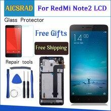 AAA Kalite LCD Xiaomi Redmi Için Not 2 LCD yedek parça ekran Hongmi Not 2 için Digitizer meclisi Note2 Çerçeve Ile 5.5